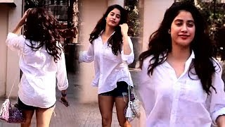 Jhanvi Kapoor Looks STUNNING In White Shirt Spotted Outside Gym