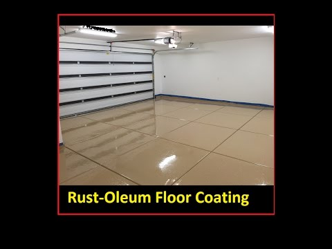 DIY Rust-oleum floor coating Epoxy/Polycuramine Rock Solid revestimiento de resina de piso