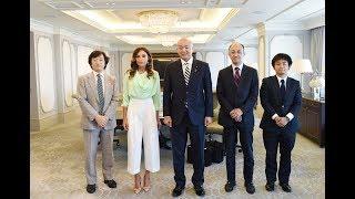 Mehriban Əliyeva Yaponiyanın xarici işlər nazirinin parlamentari müavini Manabu Hori ilə görüşüb