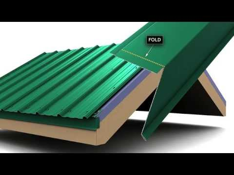 How to install metal roof rake trim for Union's MasterRib panel.