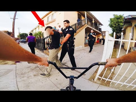 RIDING BMX IN LB COMPTON GANG ZONES 3 (BMX IN THE HOOD)