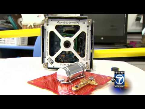 Harris' Heroes: Young students make satellite that will launch into space