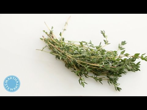 How to Remove Leaves from a Piece of Thyme - Martha Stewart