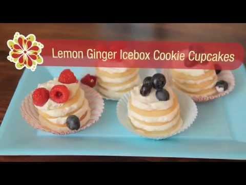 Lemon-Ginger Icebox Cookie Cupcakes - Betty Crocker's Red Hot Summer Trends