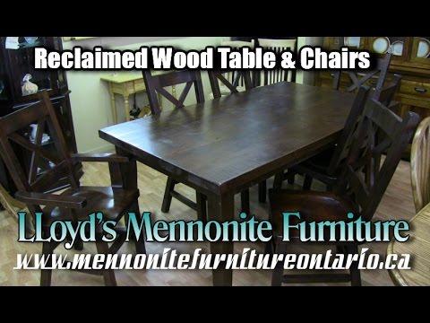 Mennonite Solid Wood Kitchen Table & Chairs, Mennonite Furniture Manufacturer Toronto Ontario.