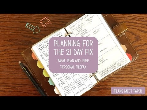 Planning for the 21 Day Fix | Healthy Meal Plan and Workout Plan | Personal Filofax