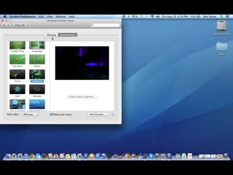 Change your Screen Saver or Desktop Background (Mac) - Quick and Easy Videos-