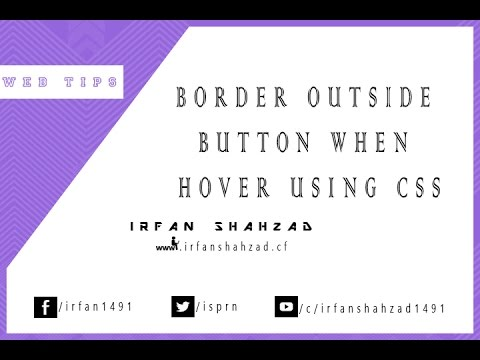 Border Around button when hover using CSS