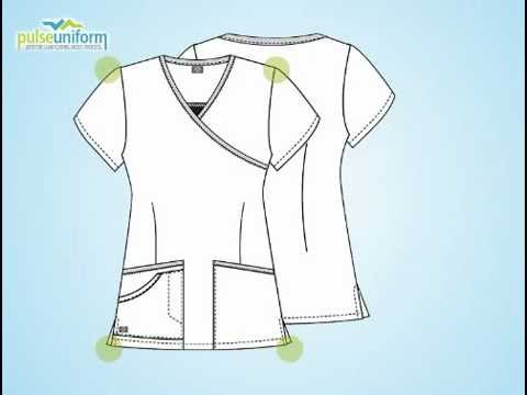 Dickies Uniforms - 810902 Hip Flip Mock Wrap Nursing Scrub Top