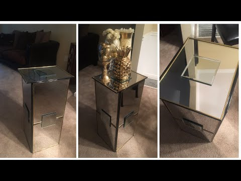 Dollar Tree DIY: 💕Mirrored Pedestal💕