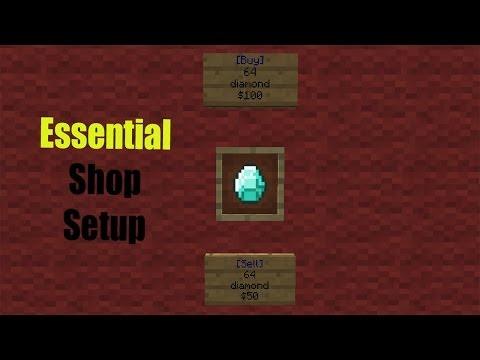 How to setup essentials shop