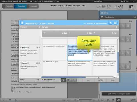How to build your rubrics in Turnitin
