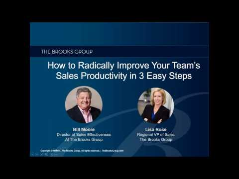 How to Radically Improve Your Team's Sales Productivity in 3 Easy Steps