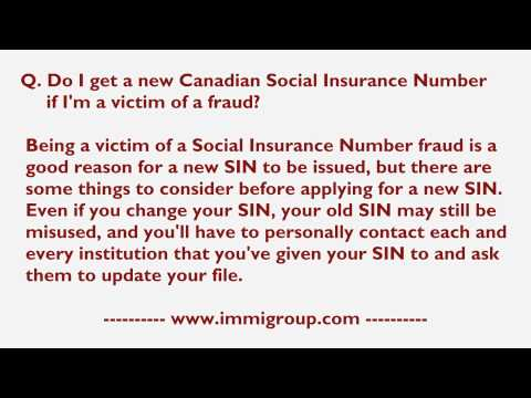 Do I get a new Canadian Social Insurance Number if I'm a victim of a fraud?