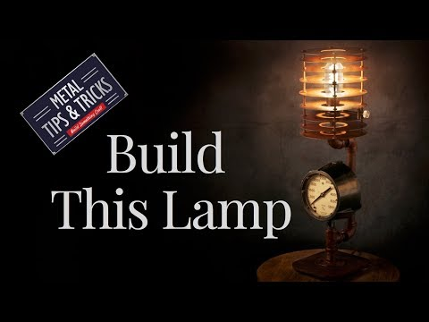 How to build this  lamp made out of plumbing pipes and a old gage.