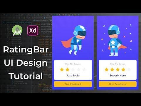 Hero Rating App UI Animation - Android Studio Tutorial