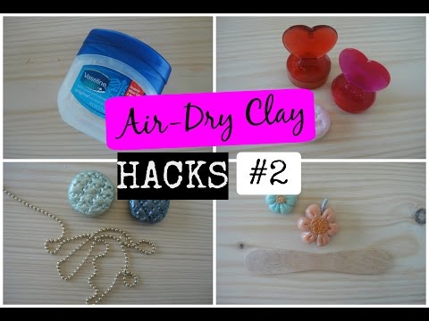 5 Air-Dry Clay Hacks! #2