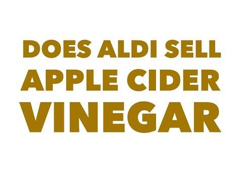 Does Aldi sell apple cider vinegar