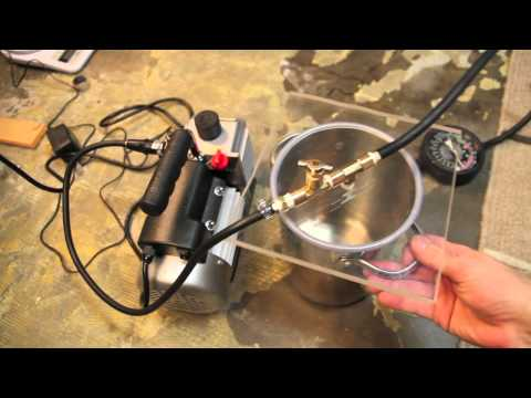 How to make a homemade vacuum chamber for degassing silicone