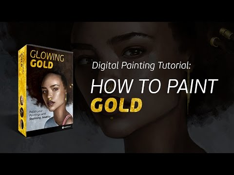 Teaser: How to Paint Gold Jewelry.. Now In the Digital Painting Academy!