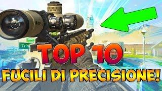 """TOP 10 """"CECCHINI/FUCILI DI PRECISIONE"""" NELLA STORIA DI CALL OF DUTY! (COD: Multiplayer - ITA)"""