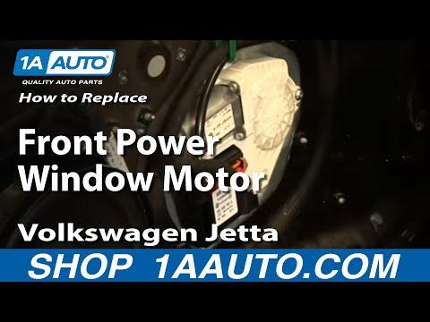 How To Install Replace Front Power Window Motor 2005-10 Volkswagen VW Jetta