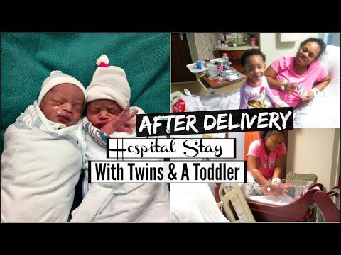 After Delivery.. Hospital Stay With Twins & Toddler| Toddler Having A Hard Time Adjusting To Twins