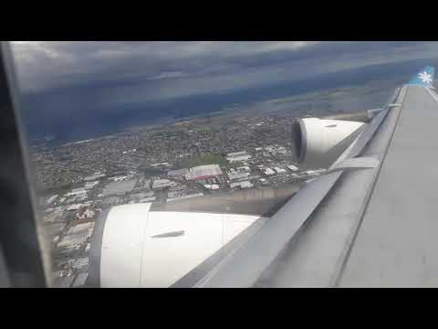 Take off Air Tahiti Nui - AKL to PPT