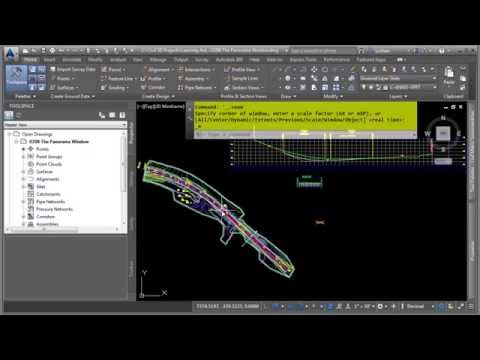 Learning AutoCAD Civil 3D 2016 | The Panorama Window