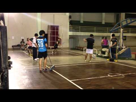 Cleaning Badminton Court @ RMUTL Gym