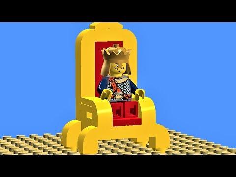 HOW TO MAKE LEGO FURNITURE - Lego throne tutorial