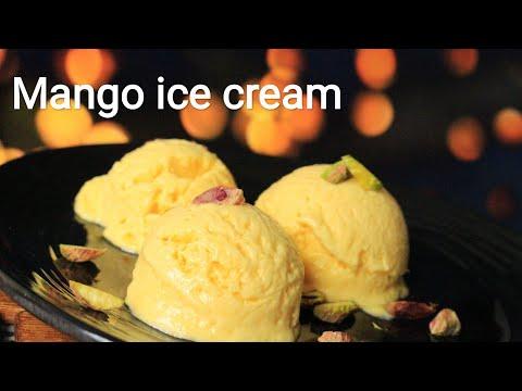 Mango ice cream recipe - No condensed milk, no eggs mango ice cream recipe - Ice cream recipe