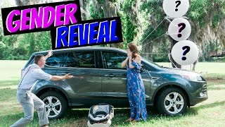 GENDER REVEAL with SURPRISE CAR for Wife!