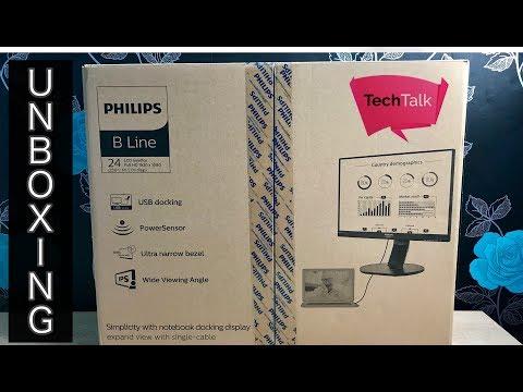Philips 241B7QUPEB Monitor Unboxing and Setup