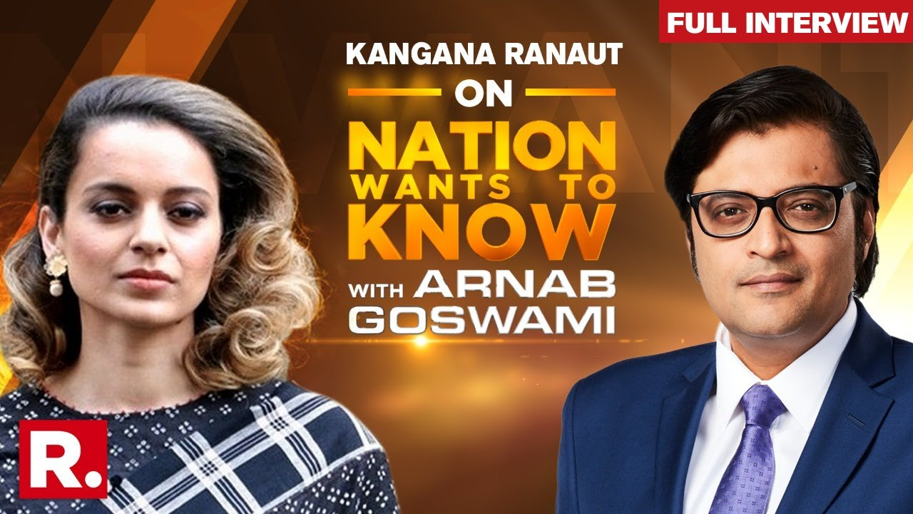 Kangana Ranaut With Arnab Goswami On Nation Wants To Know