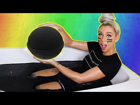 DIY GIANT BLACK BATH BOMB! How To Make THE WORLDS BIGGEST BLACK BATH BOMB