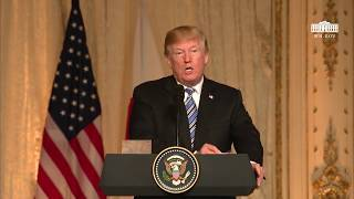 President Trump Hosts a Joint Press Conference with the Prime Minister of Japan
