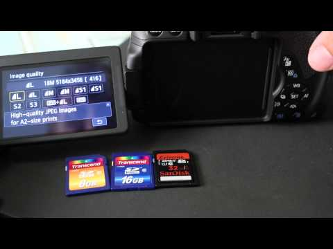 Memory Cards Tested in Canon T4i