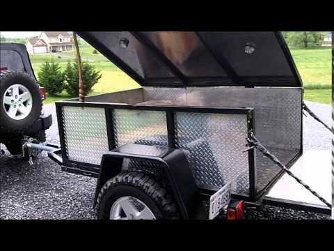 Homemade trailer and CVT tent update.