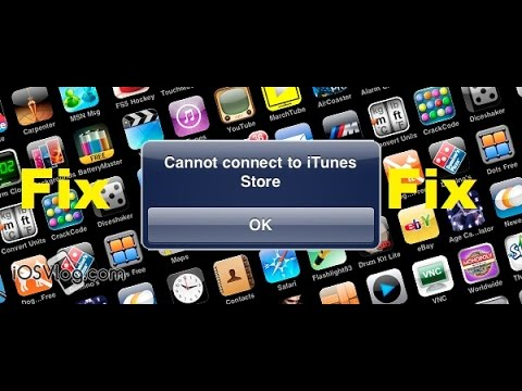 How to fix the 'Can't connect to App Store' on iPod/iPhone/iPad