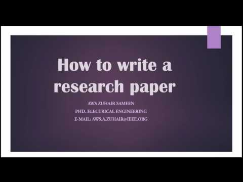 9. How to write a research paper - Acknowledgement - References - Appendix