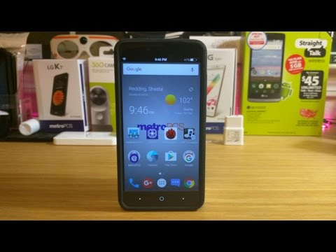 How to remove metro pcs message on top corner of the ZTE Zmax Pro option#2
