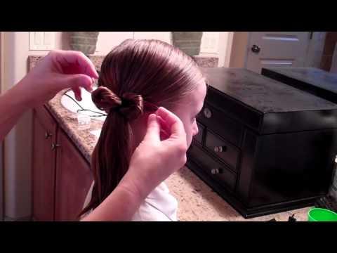 How to Style a Messy Bun- Wet Hair Do- Girls Hair Do