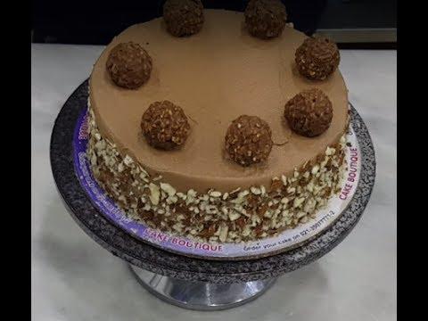Ferrero Rocher Cake by Chef Arshad Ghafoor ( Whipy Whip )