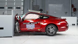 2016 Ford Mustang small overlap IIHS crash test