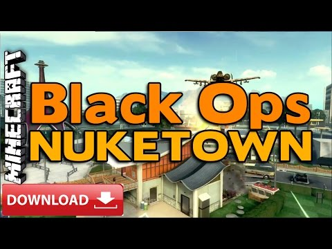 Minecraft PS3/PS4 : Black Ops NUKETOWN Custom Map Review +DOWNLOAD LINK (BO Nuketown)