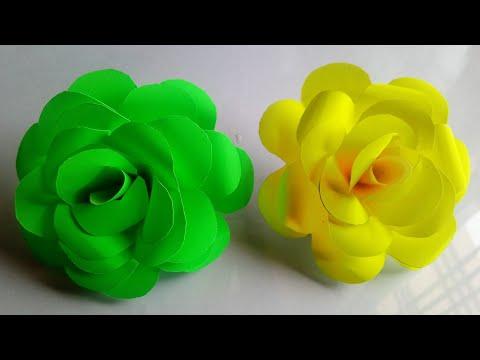Diy paper rose ( Full tutorial ) || step by step make paper rose