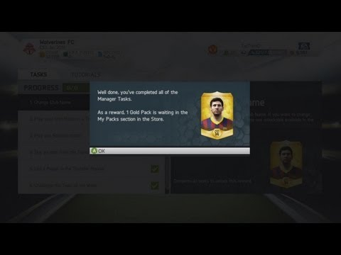 FIFA 14 Ultimate Team | How To Get A FREE GOLD PACK! (Tutorial)