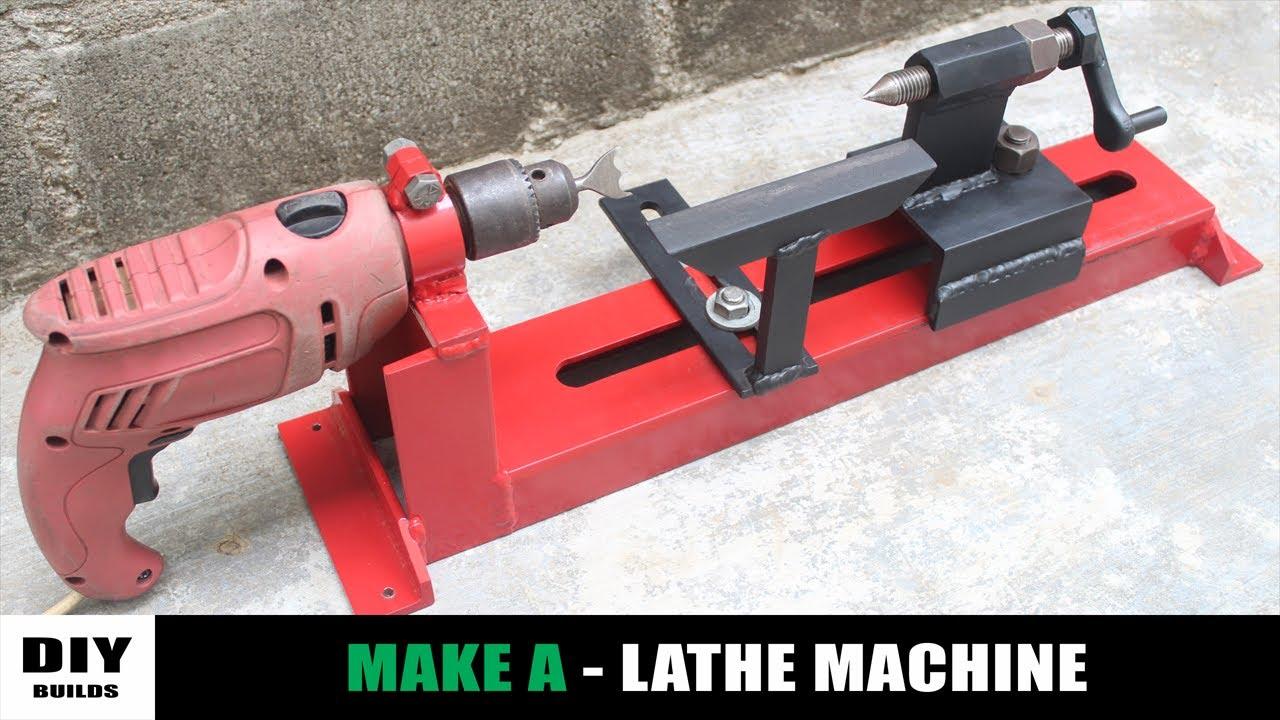 How To Make A Lathe Machine | Homemade Woodworking Lathe Machine | DIY