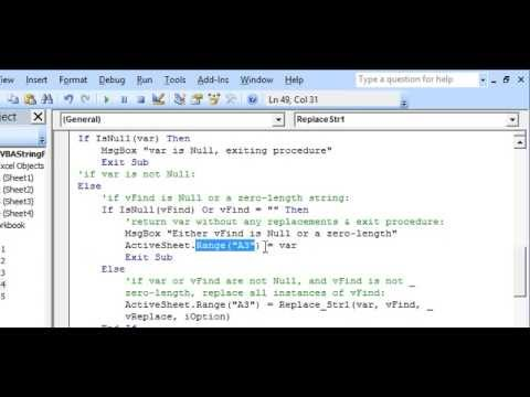 Excel VBA Text Strings - Replace all occurrences of Substring in a String with another Substring